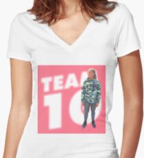 Jake Paul, team 10  Women's Fitted V-Neck T-Shirt