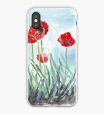 Poppies mean Spring! iPhone Case