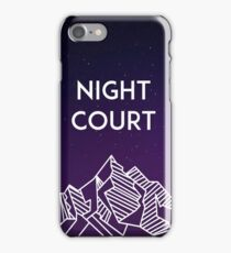 Night Court iPhone Case/Skin