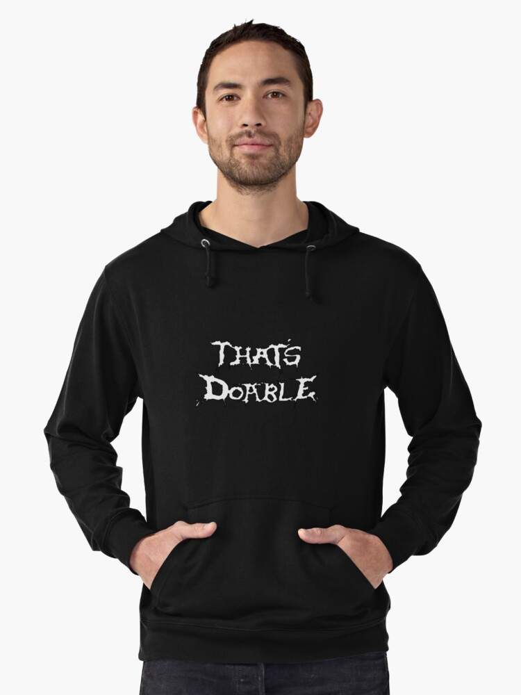 That's Doable Lightweight Hoodie Front