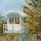 Bonny surf tower - plein air by Terri Maddock