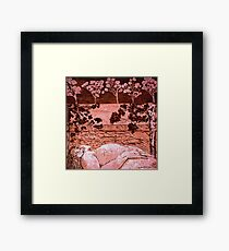 Nude in the Outback - Copper plate etching Framed Print