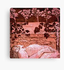 Nude in the Outback - Copper plate etching Canvas Print