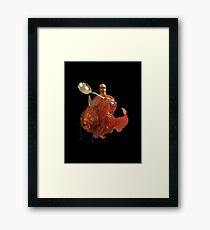 Jesus Riding A Magikarp Wielding A Giant Spoon And Wearing Glasses Framed Print