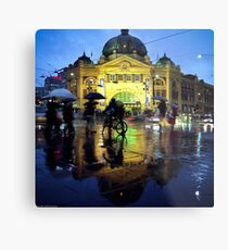 Rush hour in the rain Metal Print