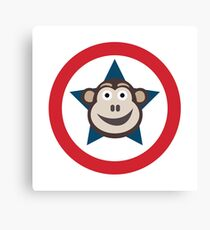 Super Monkey Graphic Canvas Print