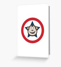 Super Monkey Graphic Greeting Card