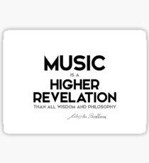 music: higher revelation - beethoven Sticker