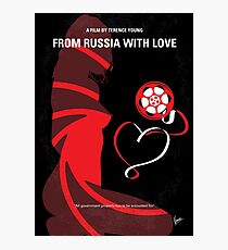 No277-007- from Russsia with love minimal movie poster Photographic Print