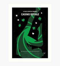 No277-007-2- Casino Royale minimal movie poster Art Print
