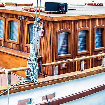 Wooden boat exterior by ArveBettum