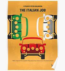 No279- The Italian Job minimal movie poster Poster