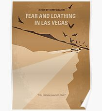 No293- Fear and loathing Las vegas minimal movie poster Poster