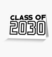 Class of 2030 | 12 Year Grow Into Design Greeting Card