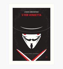 No319- V for Vendetta minimal movie poster Art Print