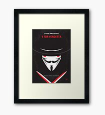 No319- V for Vendetta minimal movie poster Framed Print