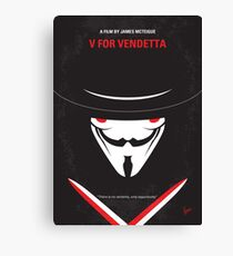 No319- V for Vendetta minimal movie poster Canvas Print