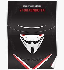 No319- V for Vendetta minimal movie poster Poster