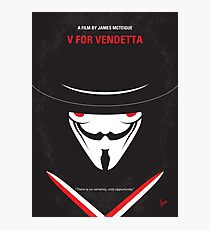 No319- V for Vendetta minimal movie poster Photographic Print
