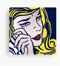 Crying Girl, Homage to Roy Lichtenstein Canvas Print