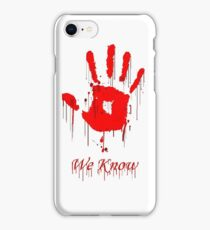 Know We iPhone Case/Skin