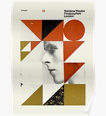 David Bowie Retro Concert Vintage Poster Poster