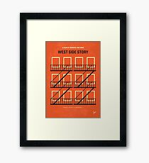 No387- West Side Story minimal movie poster Framed Print