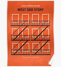 No387- West Side Story minimal movie poster Poster