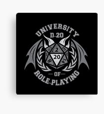 university of role playing Canvas Print