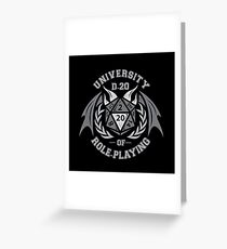 university of role playing Greeting Card