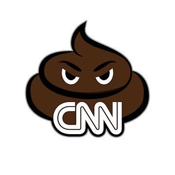Pro-Trump Shirts and Stickers: CNN Poop Emoji by DuckSkinAngel
