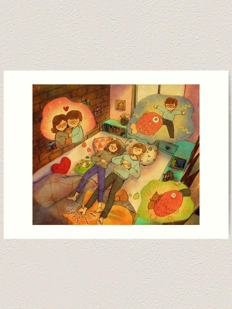 Alternate view of Sweet dreams Art Print