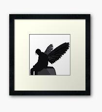 Travis Scott - Angel (Silhouette)  Framed Print
