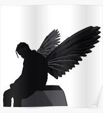 Travis Scott - Angel (Silhouette)  Poster
