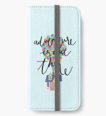 Das Abenteuer ist da draußen iPhone Flip-Case/Hülle/Klebefolie