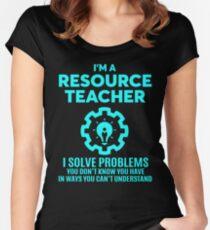 RESOURCE TEACHER - NICE DESIGN 2017 Women's Fitted Scoop T-Shirt