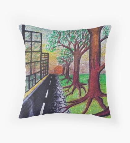 City meets country Throw Pillow