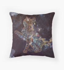 Celestial Cat  Throw Pillow