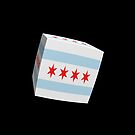 Chicago Flag cubed. by stuwdamdorp