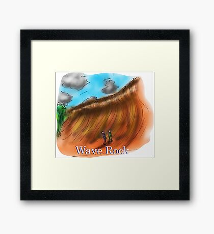 Wave Rock - Western Australia Framed Print