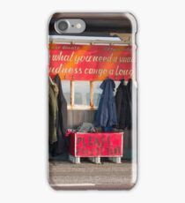 Shelter with Clothes for Homeless iPhone Case/Skin