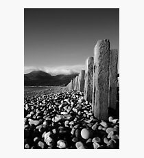 Murlough Beach View Mono Photographic Print