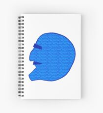 Fantasy Man head Spiral Notebook