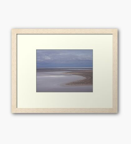 Beaut Beach at Lovely Lake Eyre Framed Print