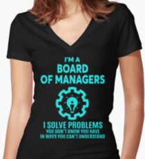 BOARD OF MANAGERS - NICE DESIGN 2017 Women's Fitted V-Neck T-Shirt