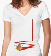 inca trail Women's Fitted V-Neck T-Shirt