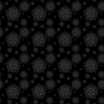 Anti Possession Pattern White Glow by Falln