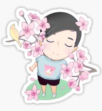 Phil and Cherry Blossoms  Sticker