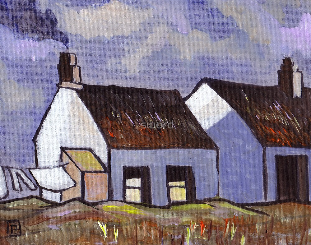 Rural Irish Cottages by sword