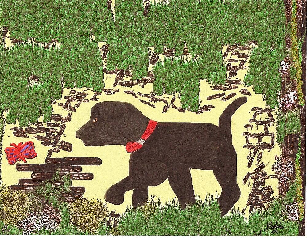 Black Pup by DeenieM